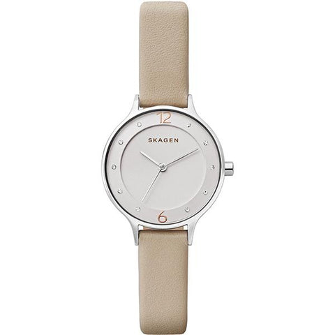 Skagen Ladies' Anita Beige Leather Watch SKW2648