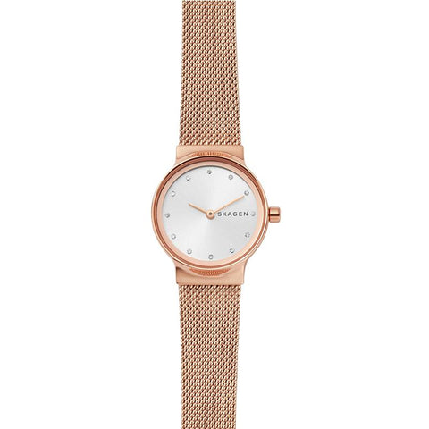 Skagen Ladies' Freja Rose Gold-Tone Steel-Mesh Band Watch SKW2665