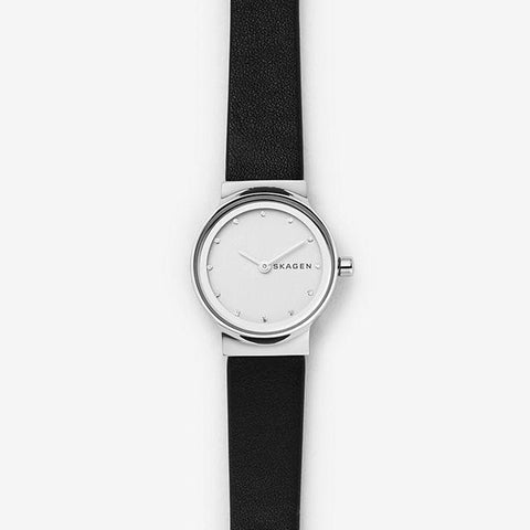Skagen Ladies' Freja Black Leather Watch SKW2668