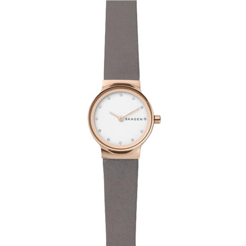 Skagen Ladies' Freja Grey Leather Strap Watch SKW2669