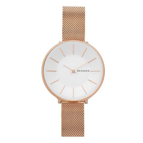 Skagen Ladies' karolina Rose Gold Steel Mesh Watch SKW2688