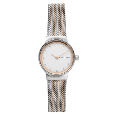 Skagen Ladies' Freja Two Tone Steel Mesh Watch SKW2699