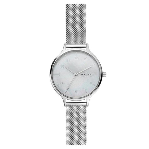 Skagen Ladies' Anita Steel Mesh Mother of Pearl Watch SKW2701