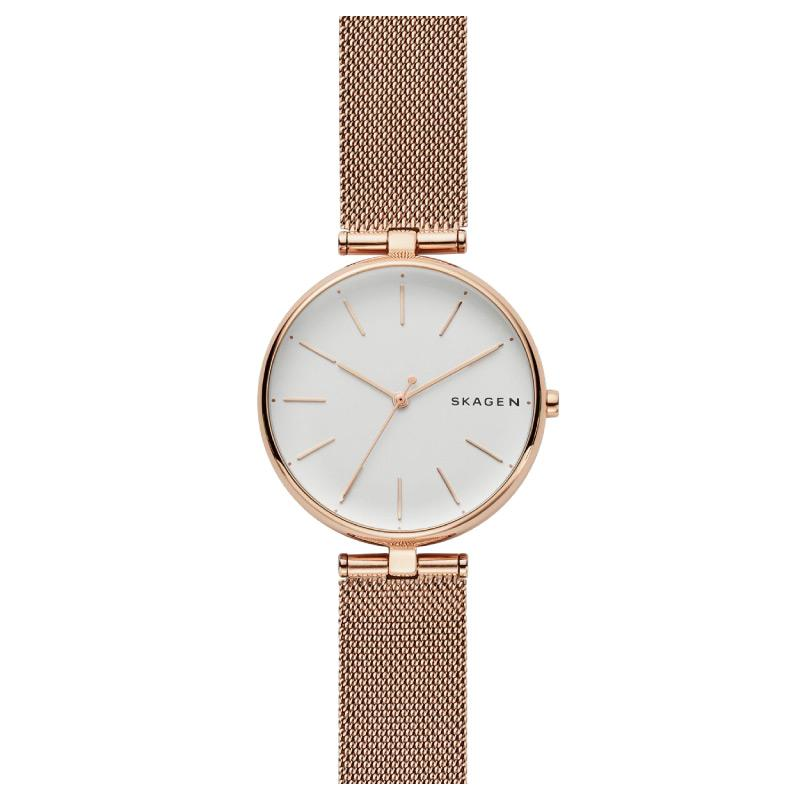 62f2212bc3ce Skagen Ladies  Signatur T-Bar Rose Gold Tone Steel Mesh Watch SKW2709