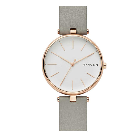 Skagen Ladies' Signatur T-Bar Grey Leather Watch SKW2710