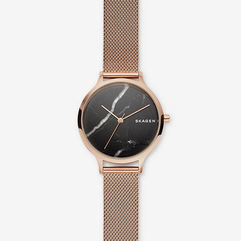 Skagen Ladies' Anita Rose Tone Steel Mesh Stone Watch SKW2721