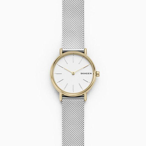 Skagen Ladies' Signatur Slim Two Tone Silk Mesh Watch SKW2729