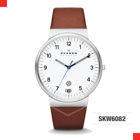 Skagen Men Archer Brown Leather Watch SKW6082