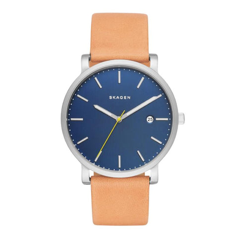 Skagen Men's Hagen Light Brown Leather Strap Watch SKW6279