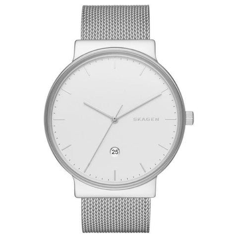 Skagen Men's Ancher Stainless Steel Mesh Band Watch SKW6290