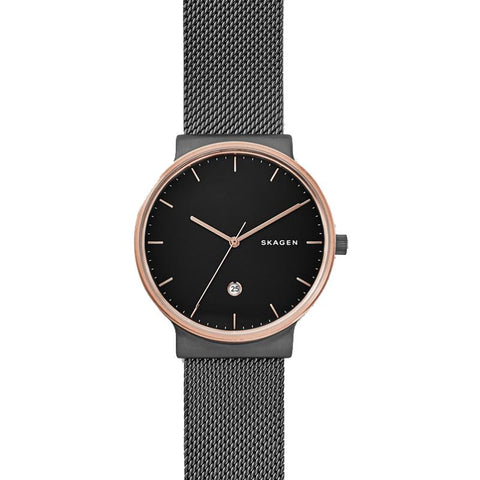 Skagen Men's Ancher Stainless Steel Mesh Band Watch SKW6296