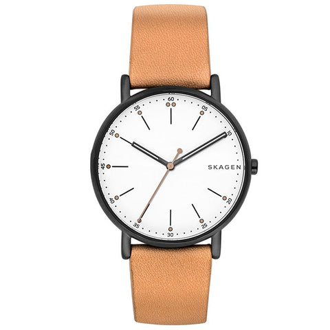Skagen Men's Signatur Tan Leather Watch SKW6352