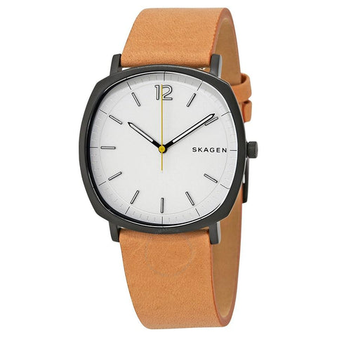 Skagen Men's Rungsted Brown Leather Strap Watch SKW6379