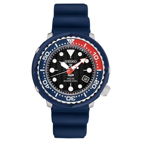 Seiko Prospex and PADI Air Diver Special Edition Blue Silicone Strap Watch SNE499P1