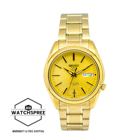 Seiko 5 Automatic Men's Gold Stainless Steel Strap Watch SNKL48K1 (Not for EU Buyers)