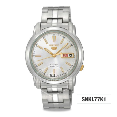 Seiko 5 Automatic Silver Stainless Steel Watch SNKL77K1