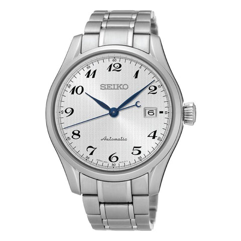 Seiko Presage (Japan Made) Automatic Silver Stainless Steel Band Watch SPB035J1