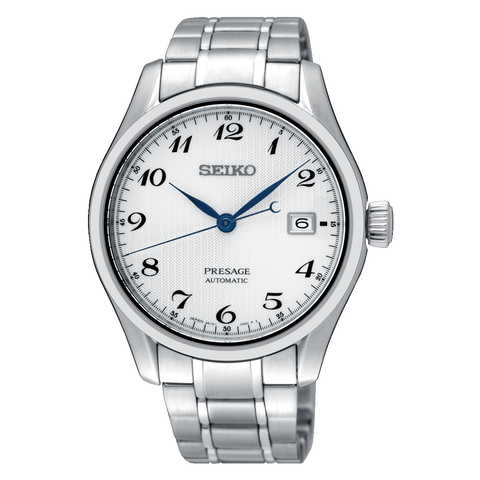 Seiko Presage (Japan Made) Automatic Silver Stainless Steel Band Watch SPB063J1 (Not for EU Buyers)