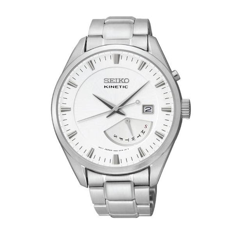 Seiko Men's Kinetic Silver Stainless-Steel Band Watch SRN043P1