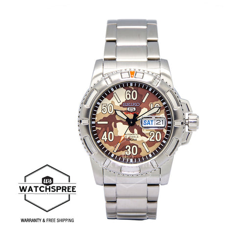 Seiko 5 Sports Automatic Men's Stainless Steel Strap Watch SRP221K1