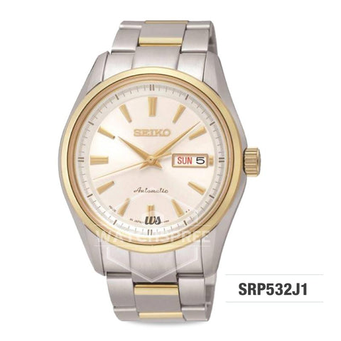 Seiko Presage (Japan Made) Automatic Two-tone Stainless Steel Band Watch SRP532J1