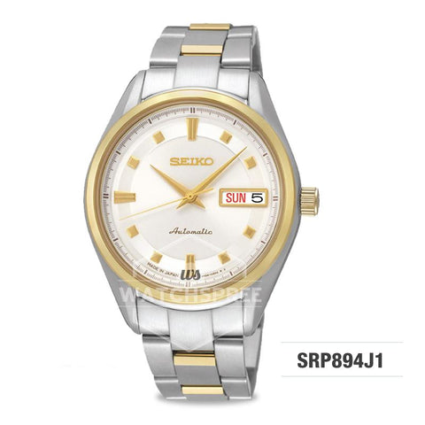Seiko Presage (Japan Made) Automatic Two-tone Stainless Steel Band Watch SRP894J1