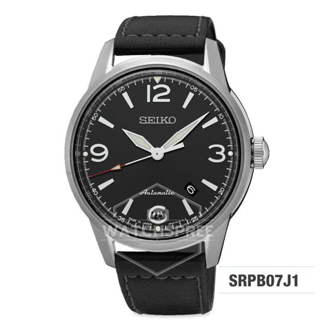 Seiko Presage (Japan Made) Automatic Black Calf Leather Strap Watch SRPB07J1