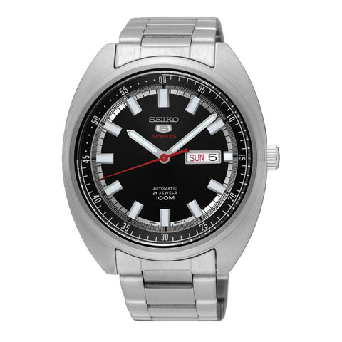 Seiko 5 Sports Automatic Silver Stainless Steel Band Watch SRPB19K1