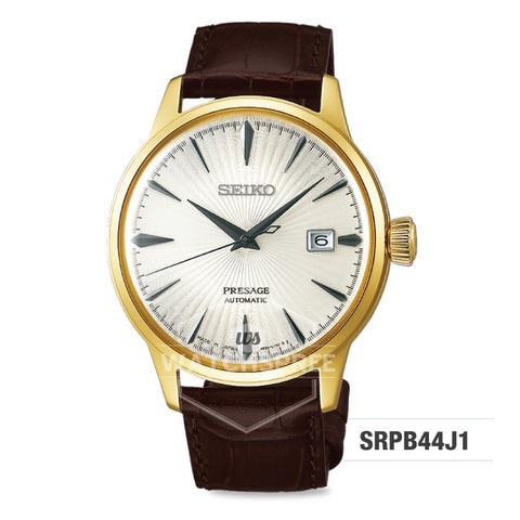 Seiko Presage (Japan Made) Automatic Dark Brown Calf Leather Strap Watch SRPB44J1
