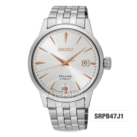 Seiko Presage (Japan Made) Automatic Silver Stainless Steel Band Watch SRPB47J1