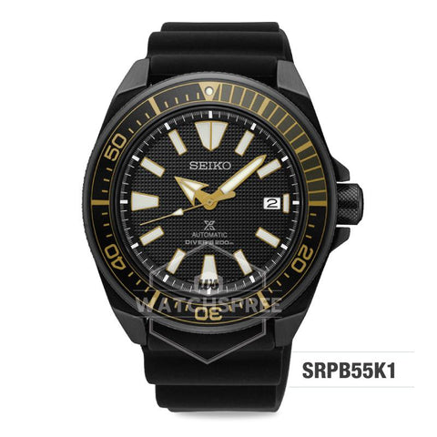 Seiko Prospex Sea Series Air Diver's Automatic Black Silicone Strap Watch SRPB55K1
