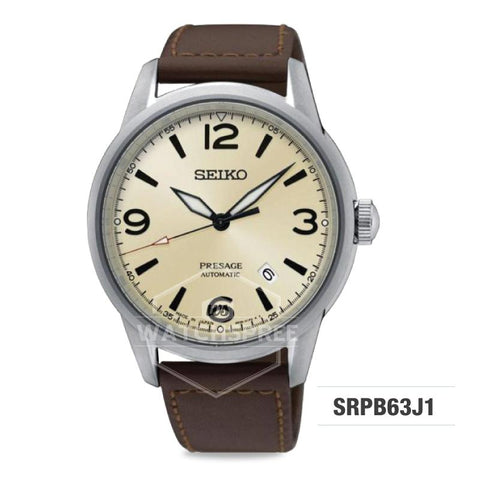 Seiko Presage (Japan Made) Automatic Brown Leather Strap Watch SRPB63J1