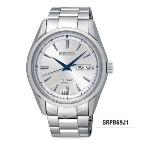 Seiko Presage (Japan Made) Automatic Silver Stainless Steel Band Watch SRPB69J1