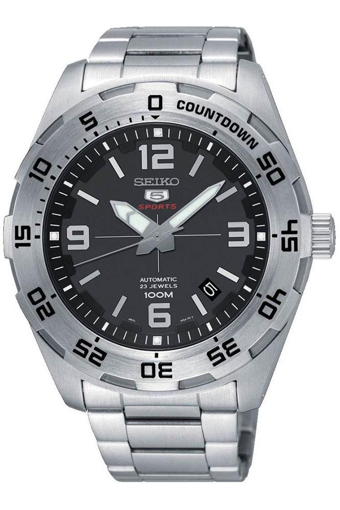 Seiko 5 Sports Automatic Silver Stainless Steel Band Watch Srpb79k1