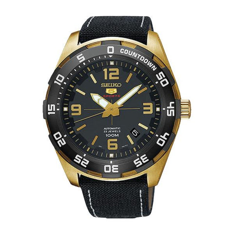 Seiko 5 Sports Automatic Black Nylon Strap Watch SRPB86K1