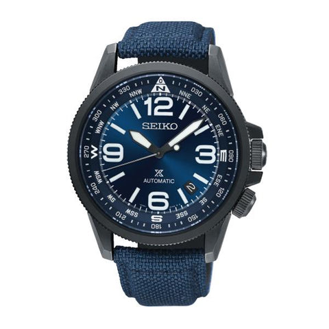Seiko Prospex Land Series Automatic Navy Blue Canvas Strap Watch SRPC31K1