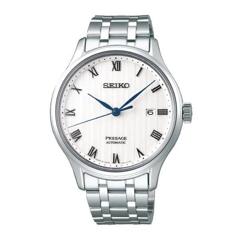 Seiko Presage (Japan Made) Automatic Silver Stainless Steel Band Watch SRPC79J1 (Not for EU Buyers)