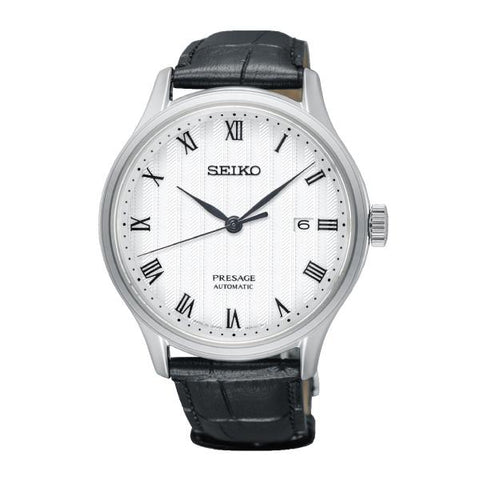 Seiko Presage (Japan Made) Automatic Black Leather Strap Watch SRPC83J1 (Not for EU Buyers)