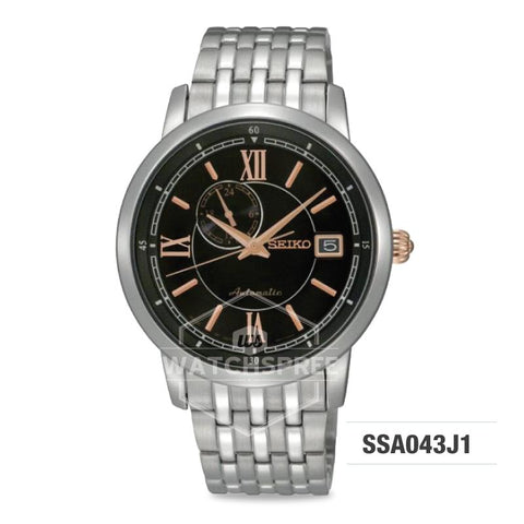 Seiko Presage (Japan Made) Automatic Silver Stainless Steel Band Watch SSA043J1