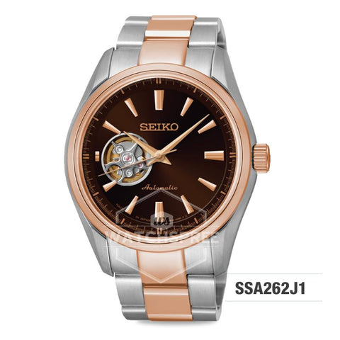 Seiko Presage (Japan Made) Open Heart Automatic Two-tone Stainless Steel Band Watch SSA262J1