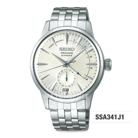 Seiko Presage (Japan Made) Automatic Silver Stainless Steel Band Watch SSA341J1