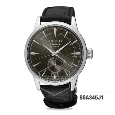 Seiko Presage (Japan Made) Automatic Black Calf Leather Strap Watch SSA345J1
