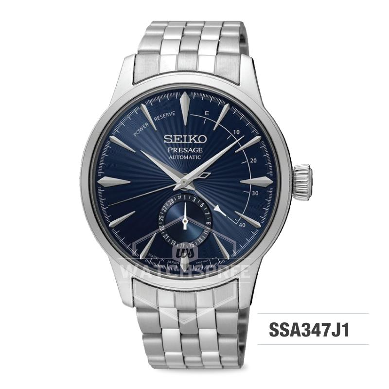Seiko Presage (Japan Made) Automatic Silver Stainless Steel Band Watch SSA347J1