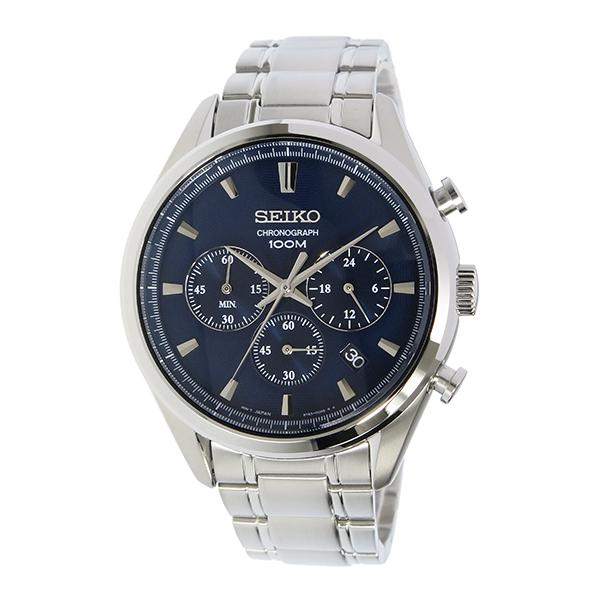 size 40 f35e9 82a41 Seiko Men's Chronograph Silver Stainless Steel Band Watch SSB223P1