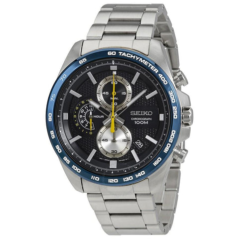 Seiko Men's Chronograph Silver Stainless Steel Band Watch SSB259P1