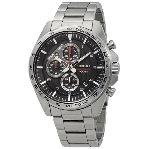 Seiko Men's Chronograph Silver Stainless Steel Band Watch SSB319P1