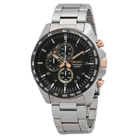 Seiko Men's Chronograph Silver Stainless Steel Band Watch SSB323P1
