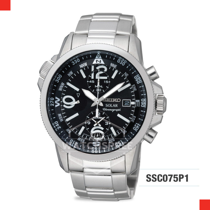 Seiko Solar Chronograph Watch SSC075P1