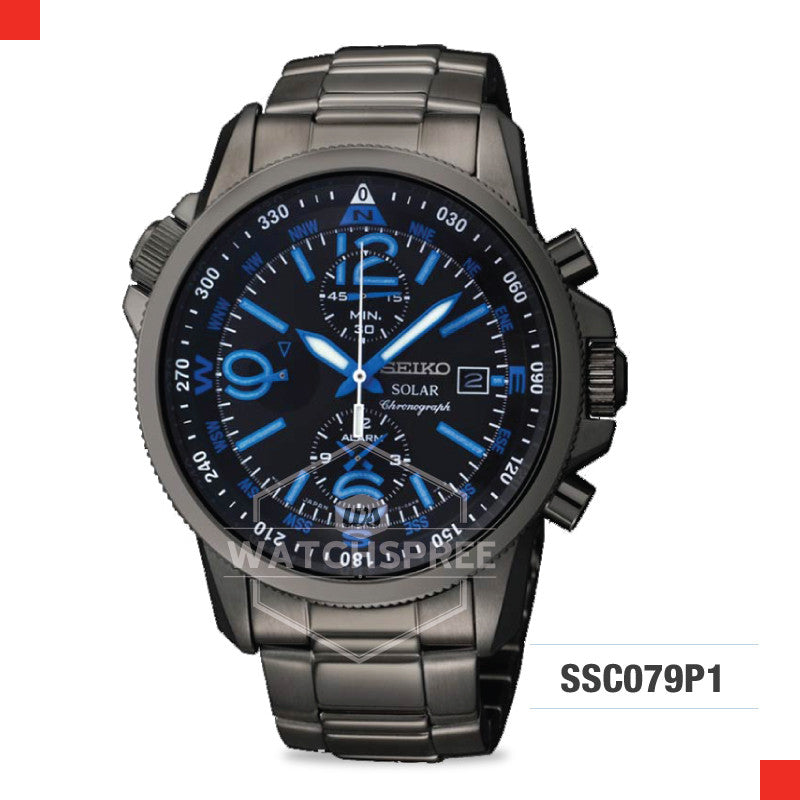Seiko Solar Chronograph Watch SSC079P1