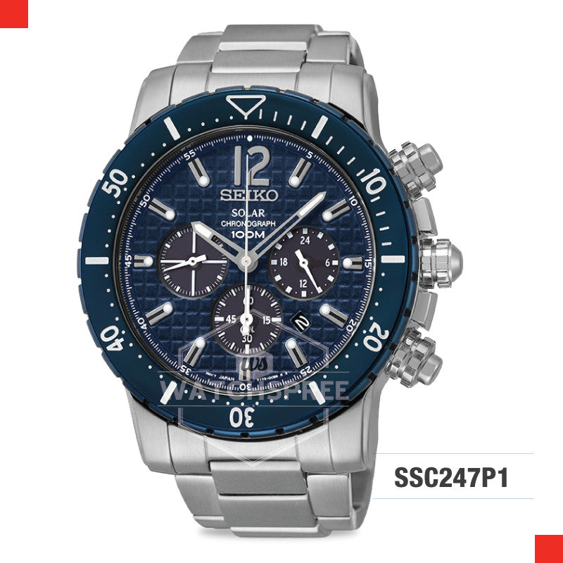 Seiko Solar Chronograph Watch SSC247P1